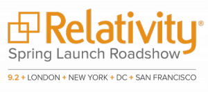 logo Spring Launch Roadshow. SYSTRAN Relativity Connector.