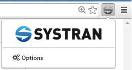 SYSTRAN brand new Chrome Extension settings