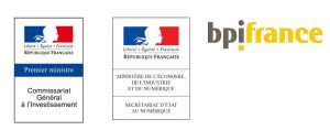 Logos of French Ministery and BPI France