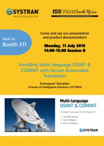 Flyer ISS World South Africa