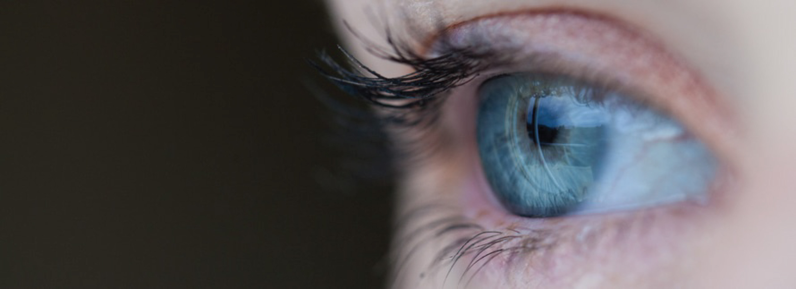 Close=up of a person's blue eye. Illustration of Top Security Threats. topImg1