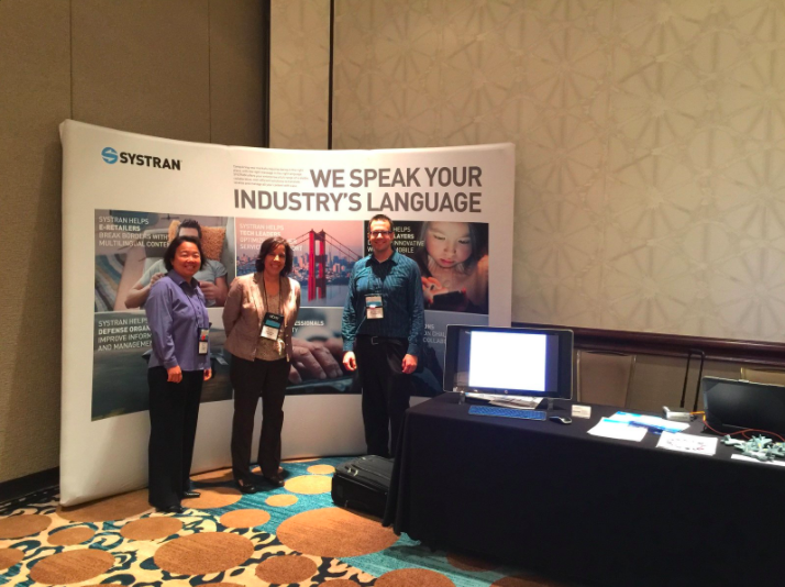 SYSTRAN's stand at Association for Machine Translation