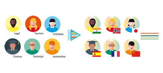 SYSTRAN Marketplace, domain & language experts