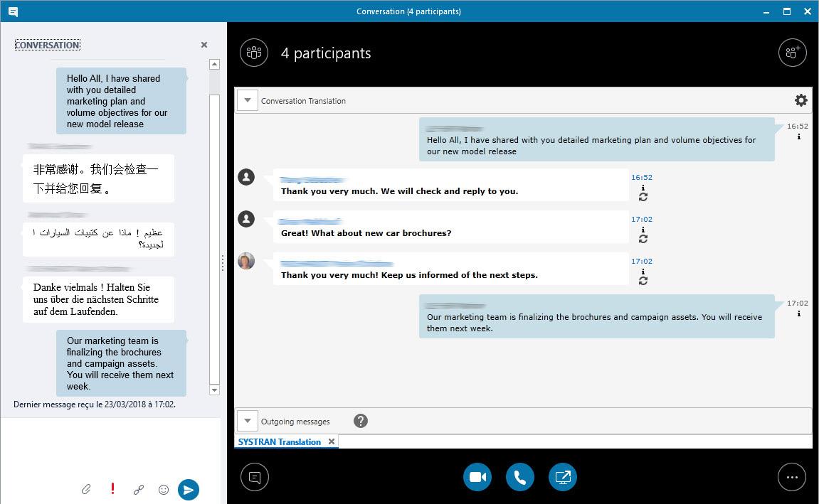 SYSTRAN Skype plugin
